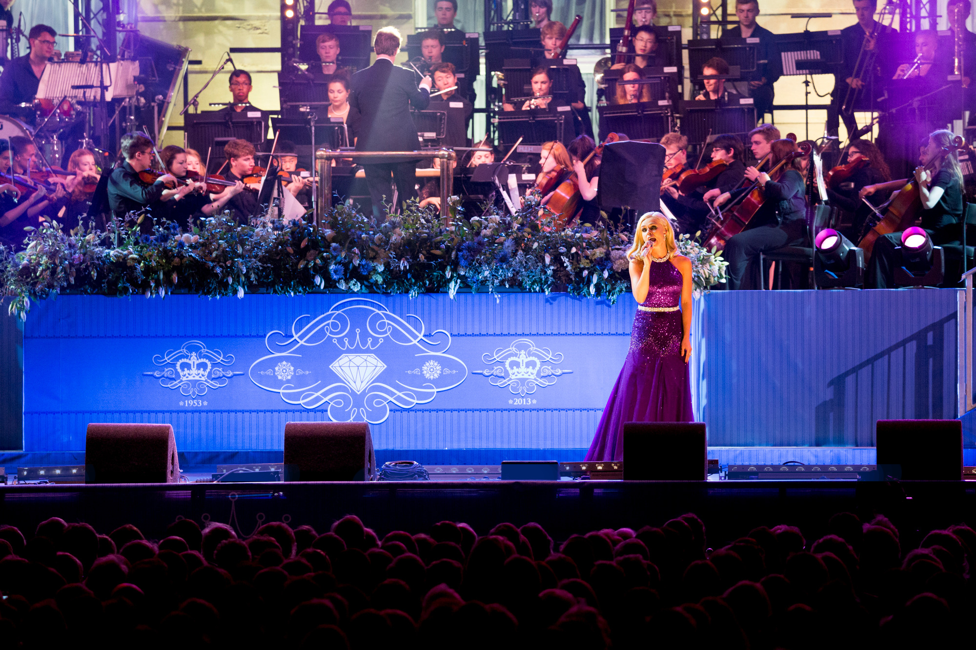 Katherine Jenkins performing at the Coronation Jubilee