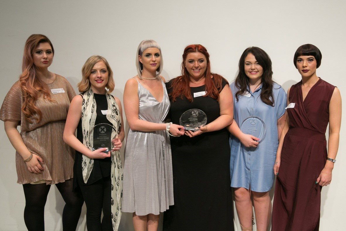 College Category  -From Left to Right: Sophie Knowles (Kendal College), Helen Elliott (Doncaster College) and Hazel Watson (South Lanarkshire College)
