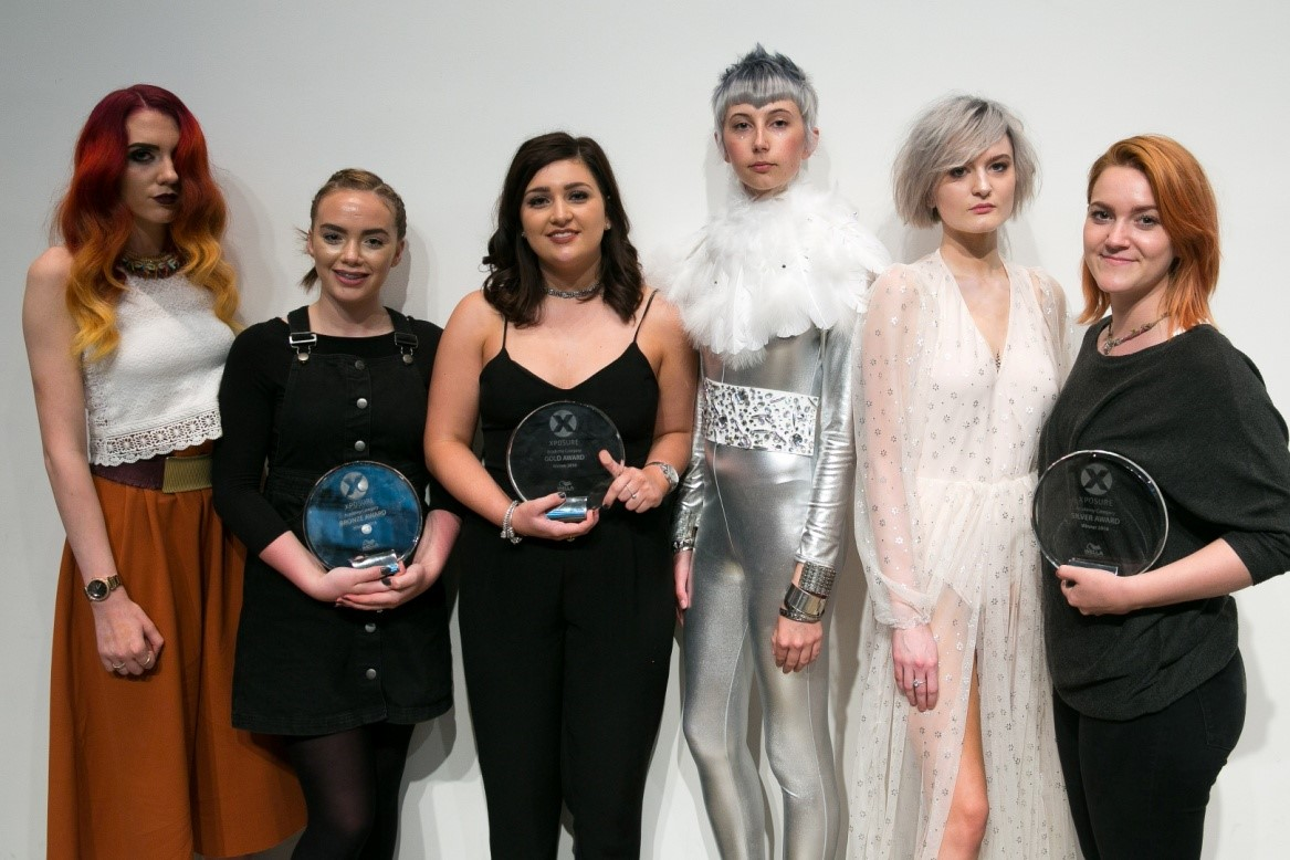 Academy Category  -From Left to Right: Lucy Fraser (Rhona McCallum Hair),  Abi Britt (Reflections Training Academy – Bristol) and Molly Gibson (Reflections Training Academy – Birmingham)