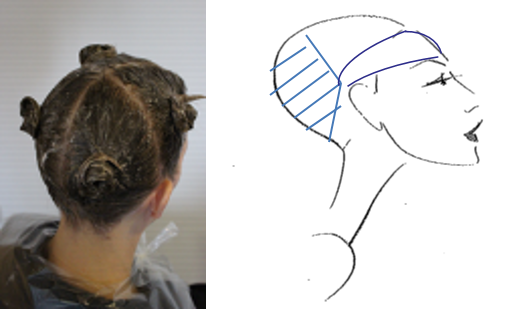 At completion, the hairline is painted with colour to ensure complete coverage.