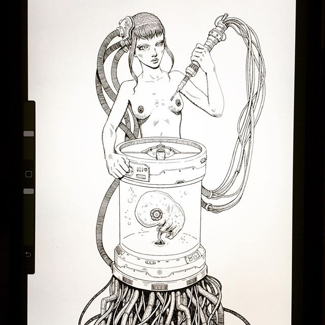 The Measure of Man . . . . #samcarr #ipadart #procreate #ink #pendrawing #illustration #lineart #artofinstagram #digitalart #instaart #instadraw #drawing