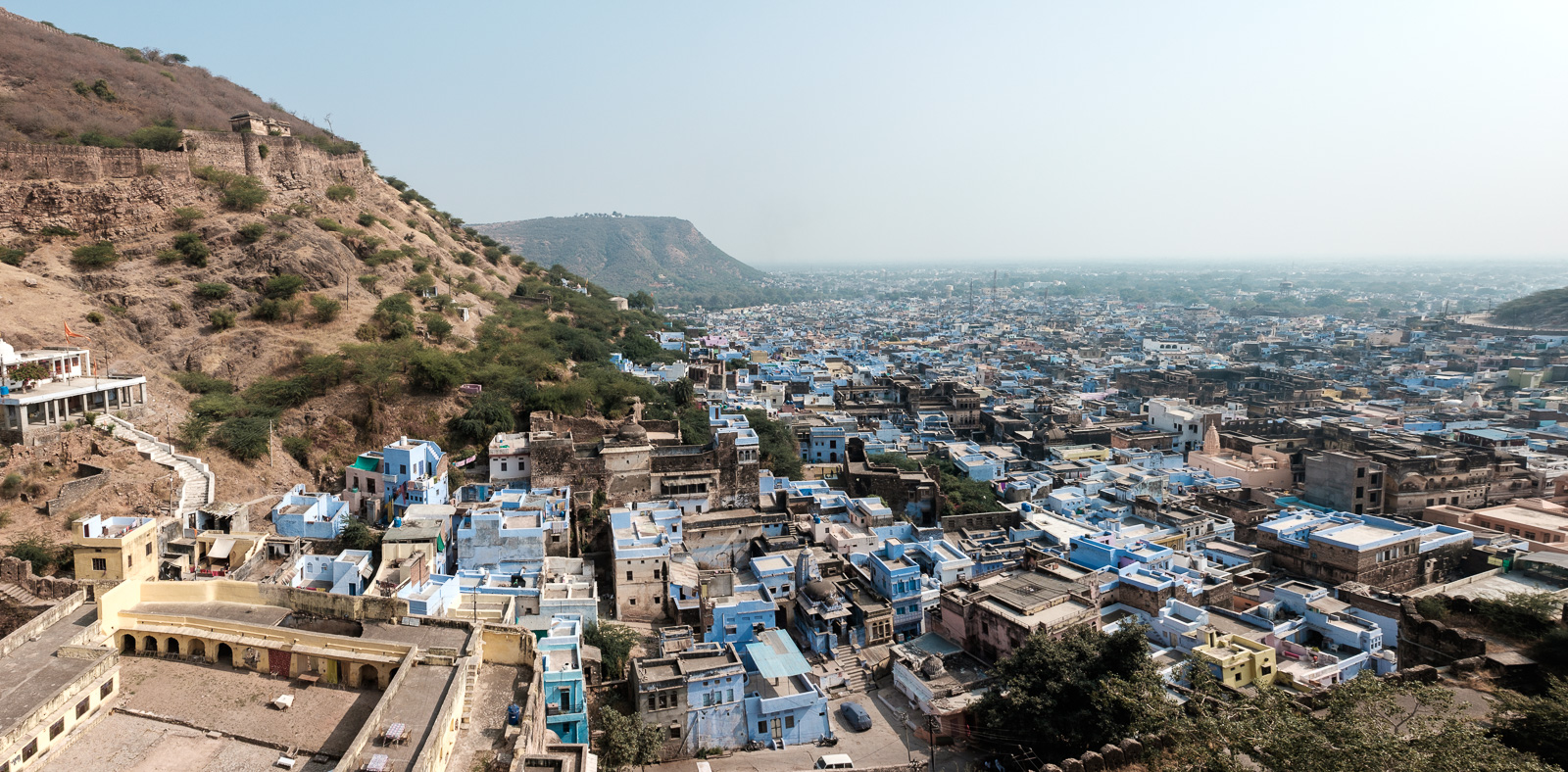 Bundi, Rajasthan. It's not known as the blue city but looking from above, I think we can argue about that.