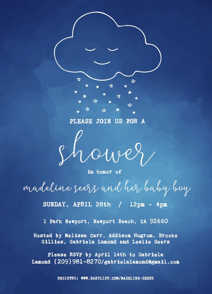 Madeline Baby Shower Invite