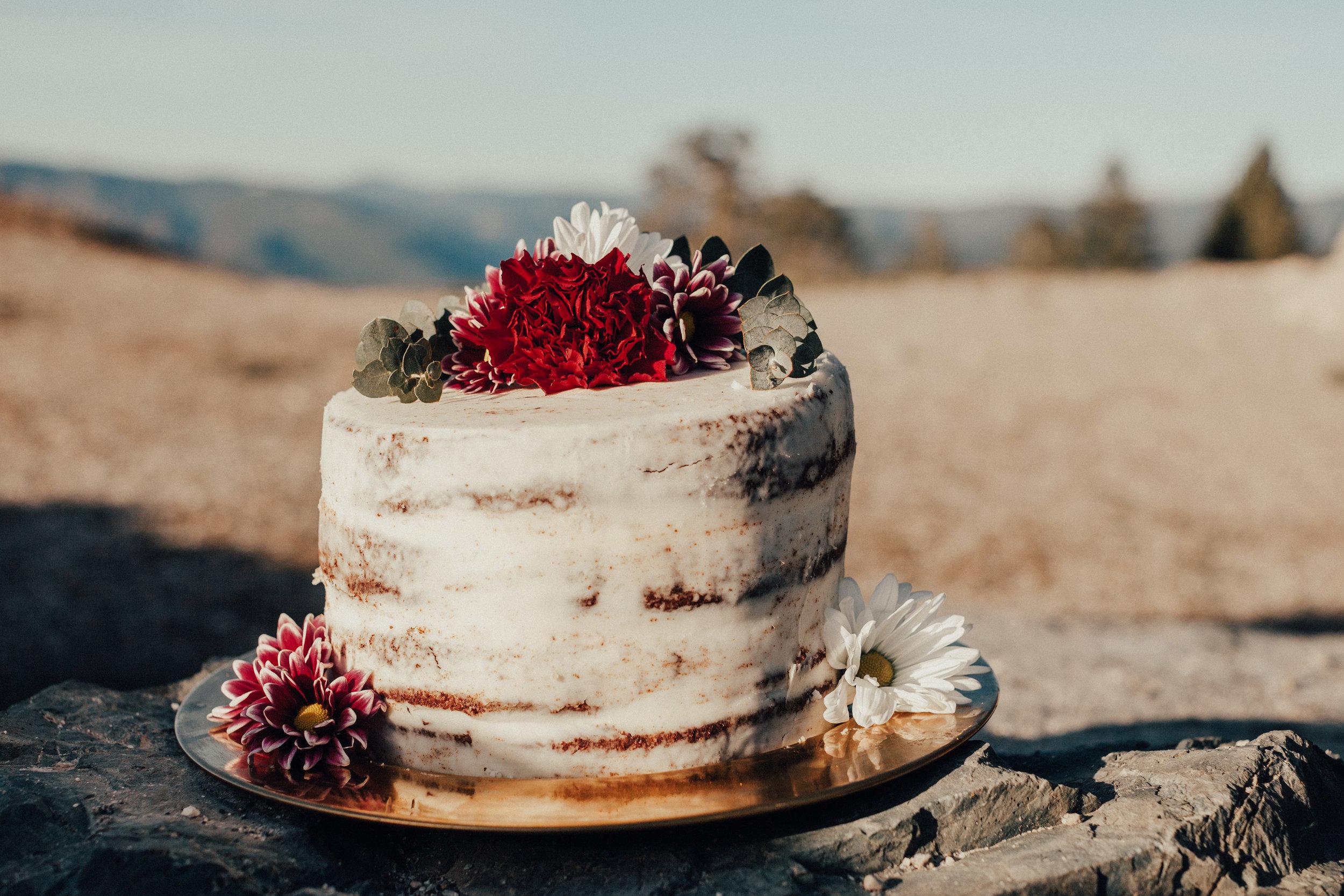 Wedding Photography in Sacramento - Naked Cake