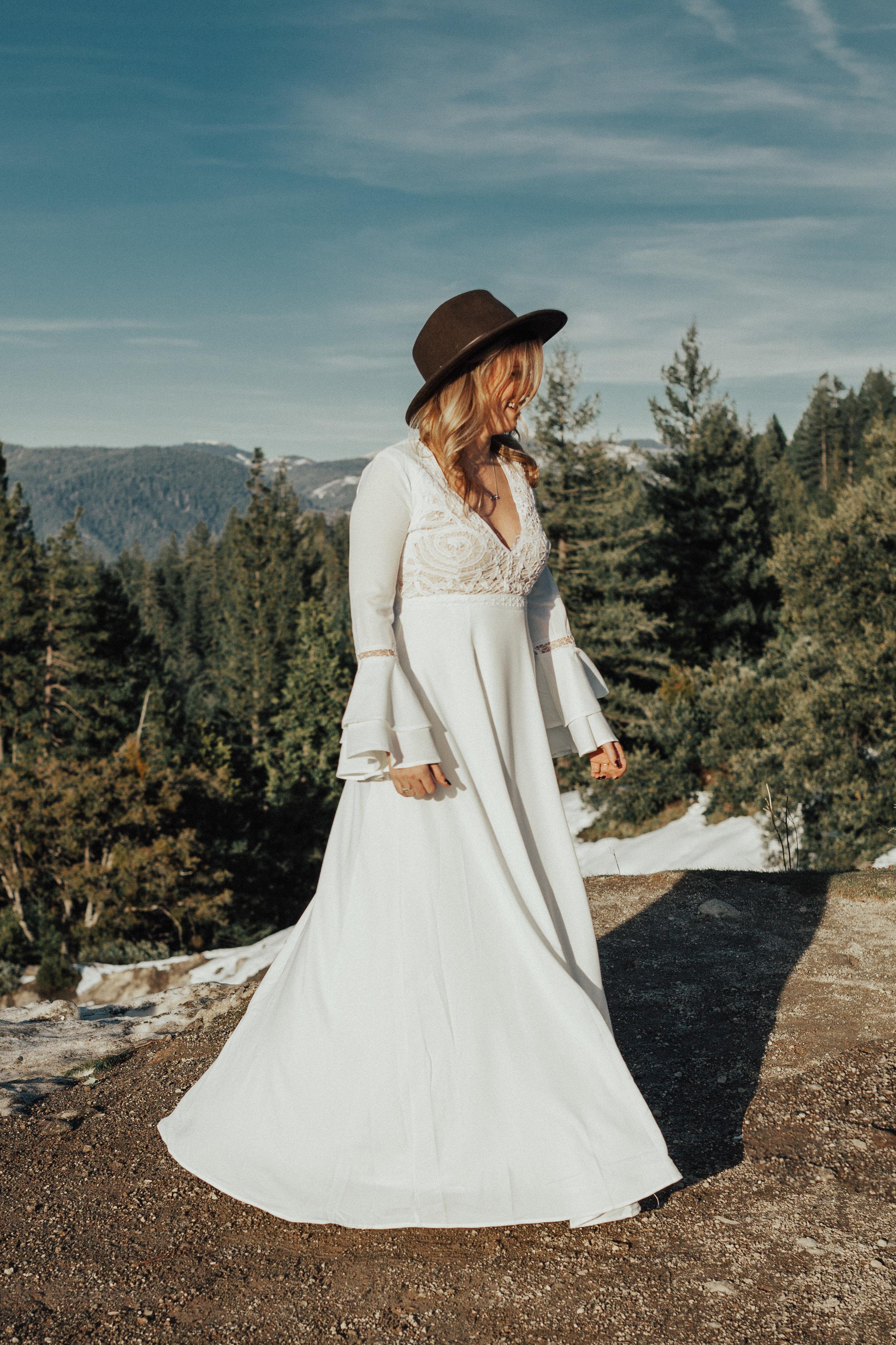 Adventurous Sacramento Bridal Portrait