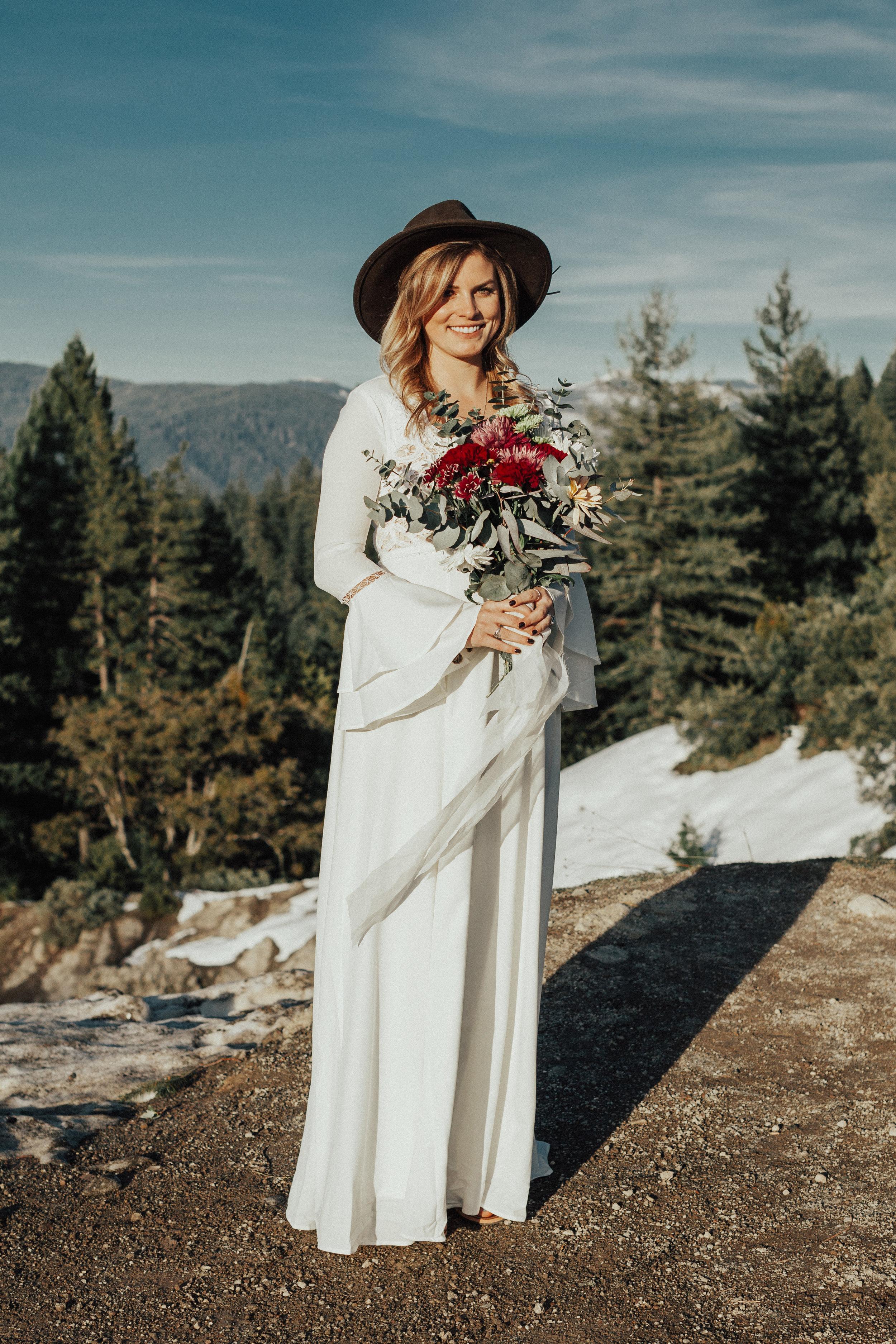 Beautiful bridal portrait taken just outside of Sacramento.
