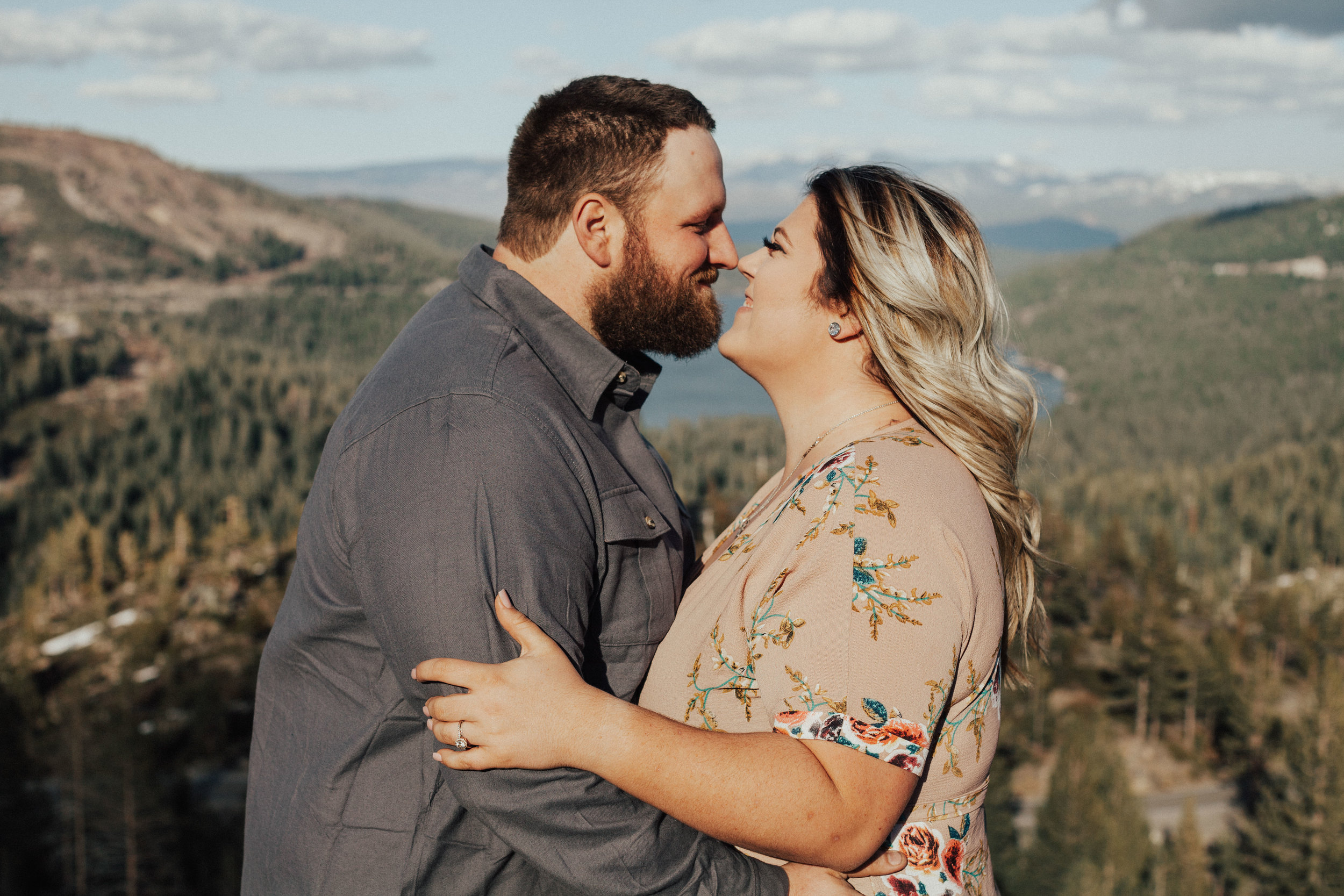 Donner Lake couples session.