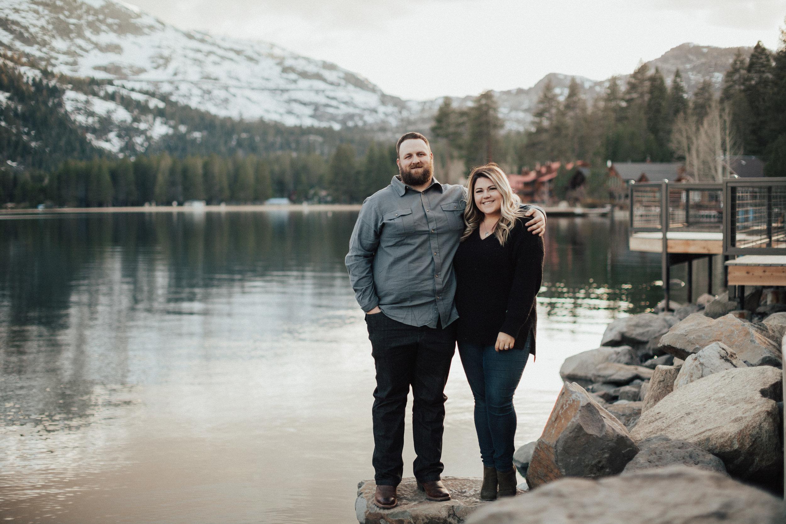 Engagement photos at Donner Lake, CA.