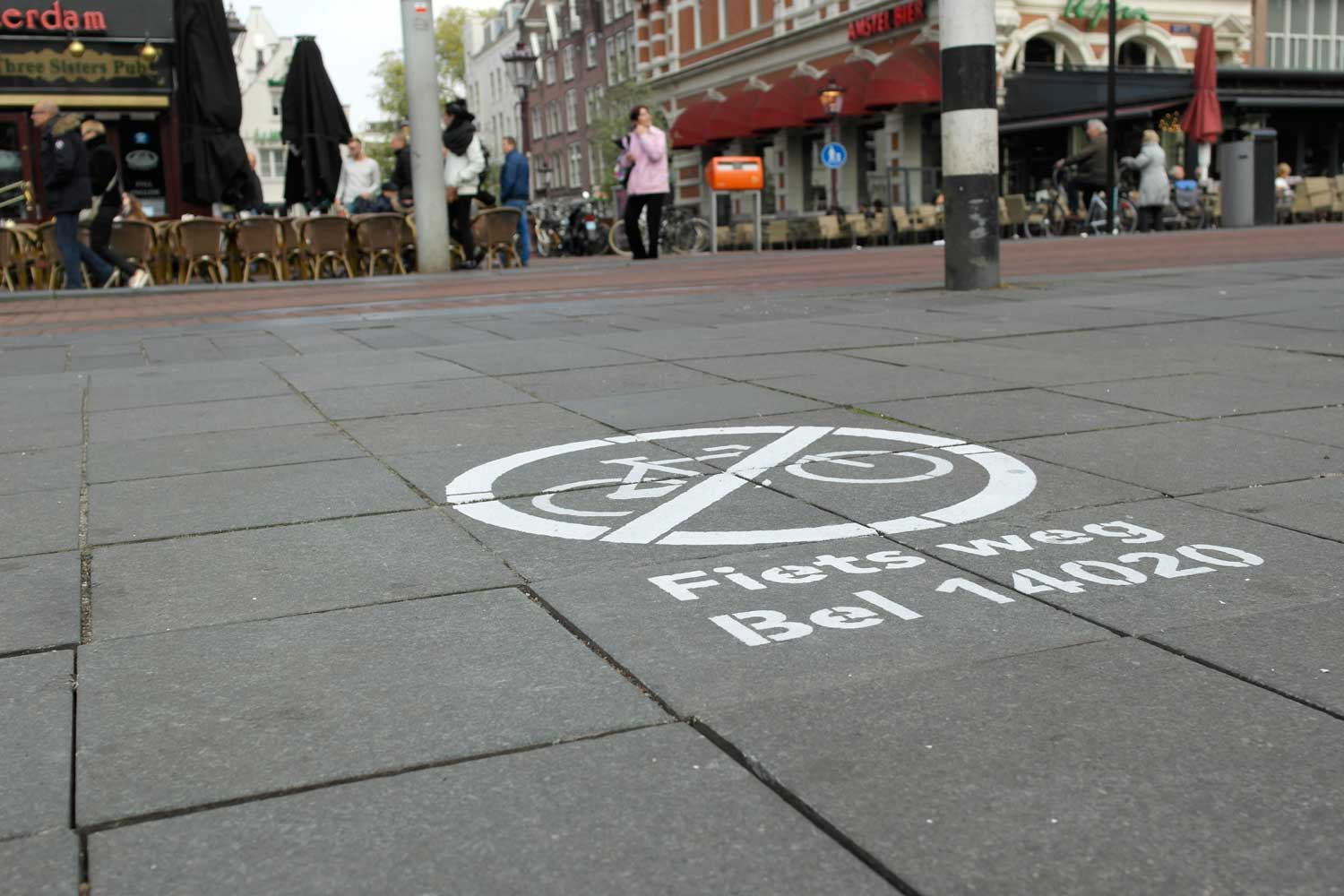 Fiets weg  campaign reduces bike parking problem on Rembrandtplein by 90% in just two weeks.