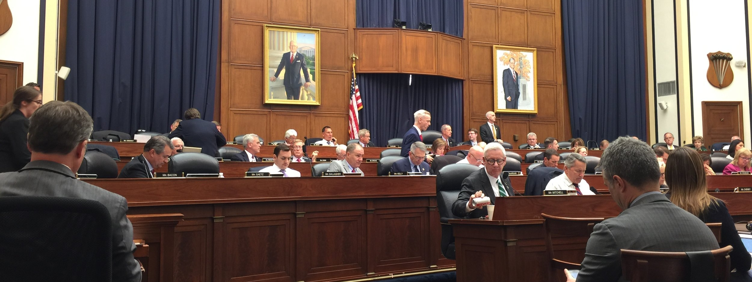 """CoAspire personnel attended the open HASC Markup session on May 9, 2018 where JAGM-F and other issues were debated and voted on. JAGM-F Missile amendments (an additional $10M total authorized for Navy and Marine Corps)were voted on """"En Bloc""""and the vote was bi-partisan and unanimous. (CoAspire Photo)"""