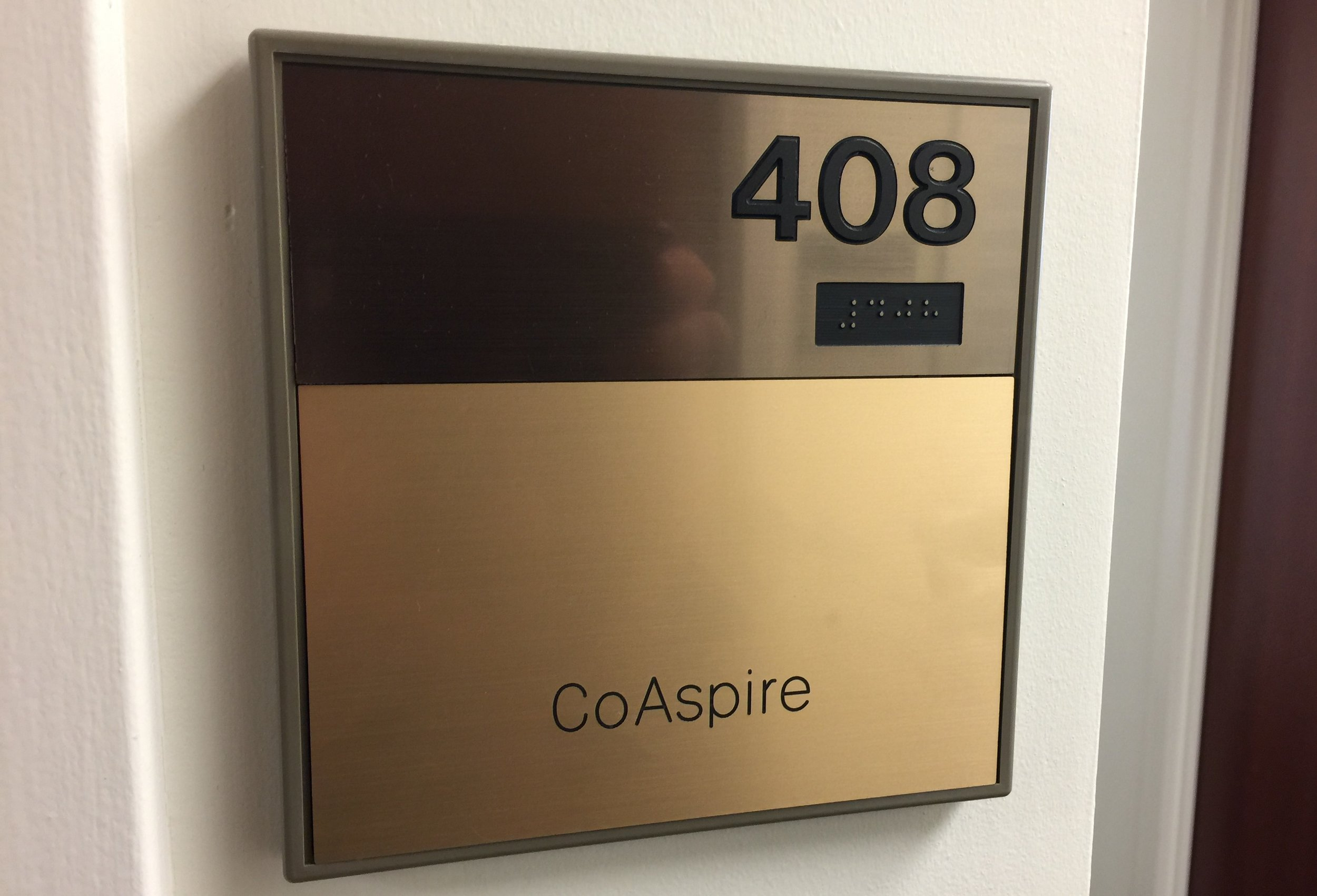CoAspire HQ's new address is 4031 University Drive, Suite #408, Fairfax, VA 22030