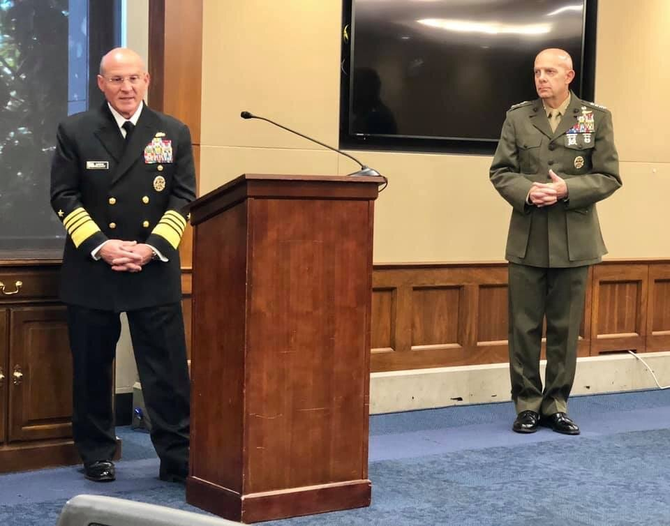 CoAspire attended the Navy League's Navy and Marine Corps Caucus briefing on the Hill with members, the Commandant and CNO.