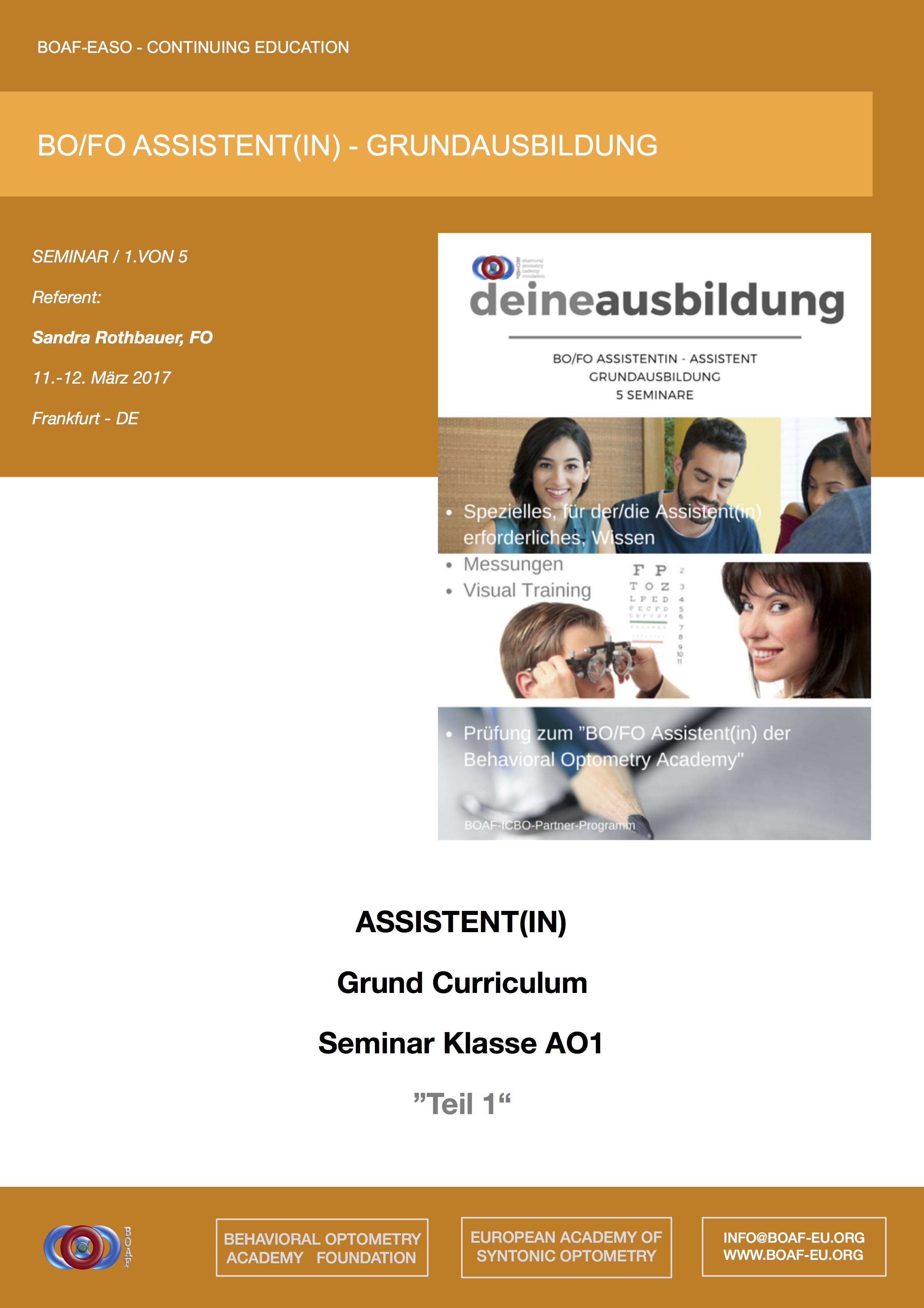 BOAF - Contininung Education Brochure - Basic Curriculum - Online reader -  Link --->
