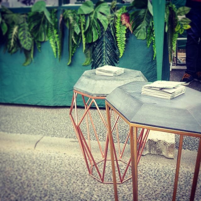 Concrete Gems #coffeetable #concrete #metallic #geometric #concretejungles