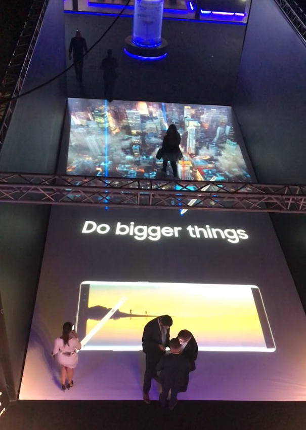 Samsung Note 8 Launch<strong>Interactive Floor</strong>