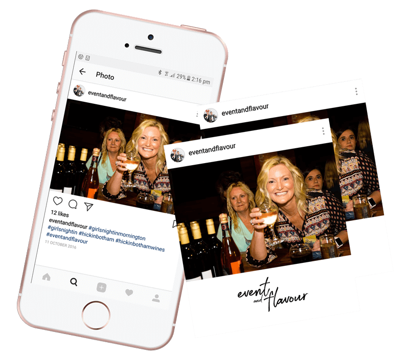 #Hashtag - Add unique #hashtag for your event and#Hashtag will automatically print all photos by anyone with that hashtag. his way, you encourage your guests to take photos, use your chosen hashtag, and benefit from a massive amount of social media exposure for your event!