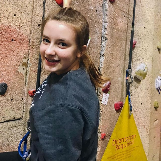 And just like that, I blinked and she was a teen!  Happy 13th birthday Aubrie!  Today we celebrate you big! . . . . .  #daughterlove #happybirthday🎂 #indoorrockclimbing #birthdaycelebrations