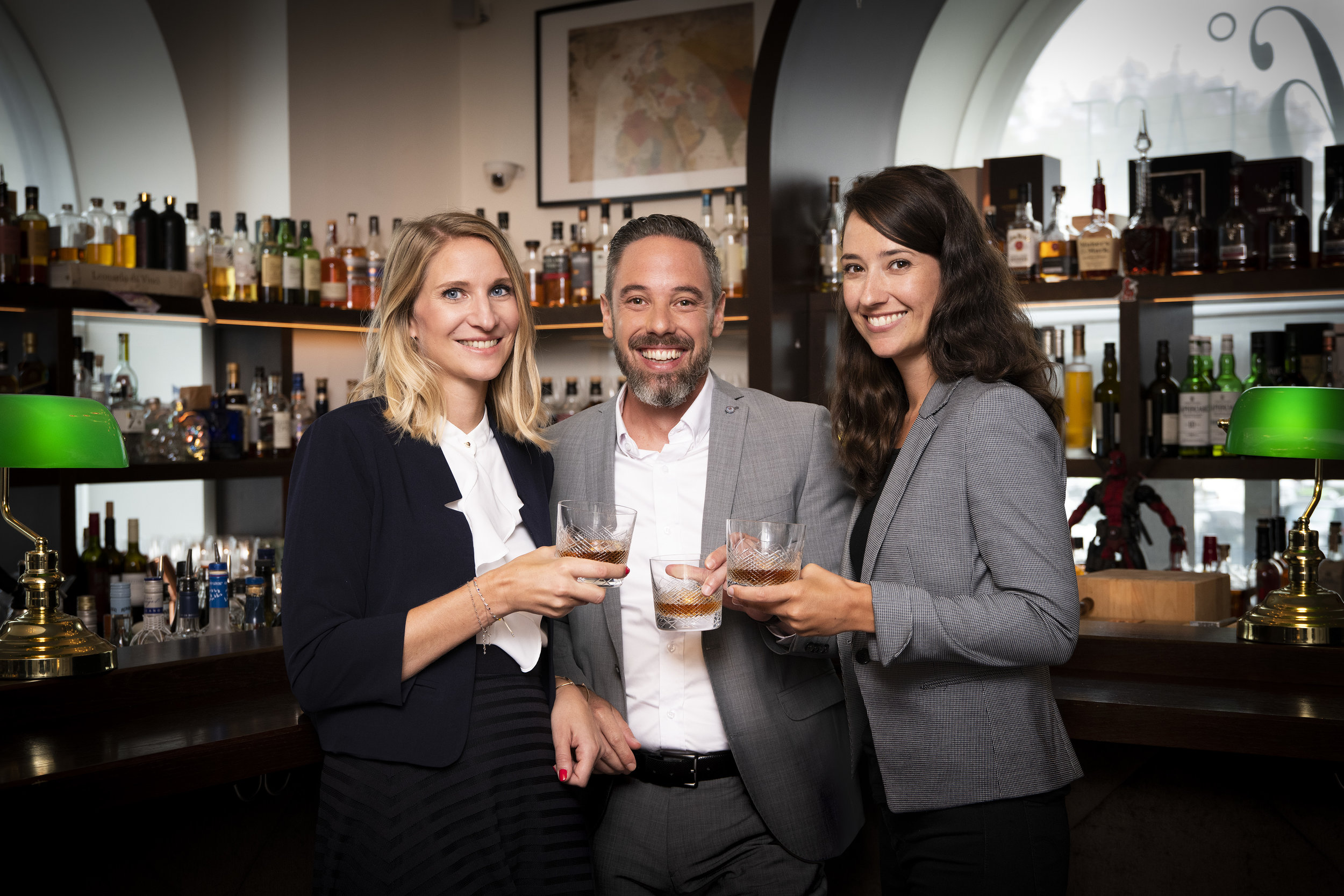 Isabelle Emrich,MA, Commercial Manager Beam Suntory Austria  Thomas Reicher  Karin Szerencsits   (v .l. n. r.)