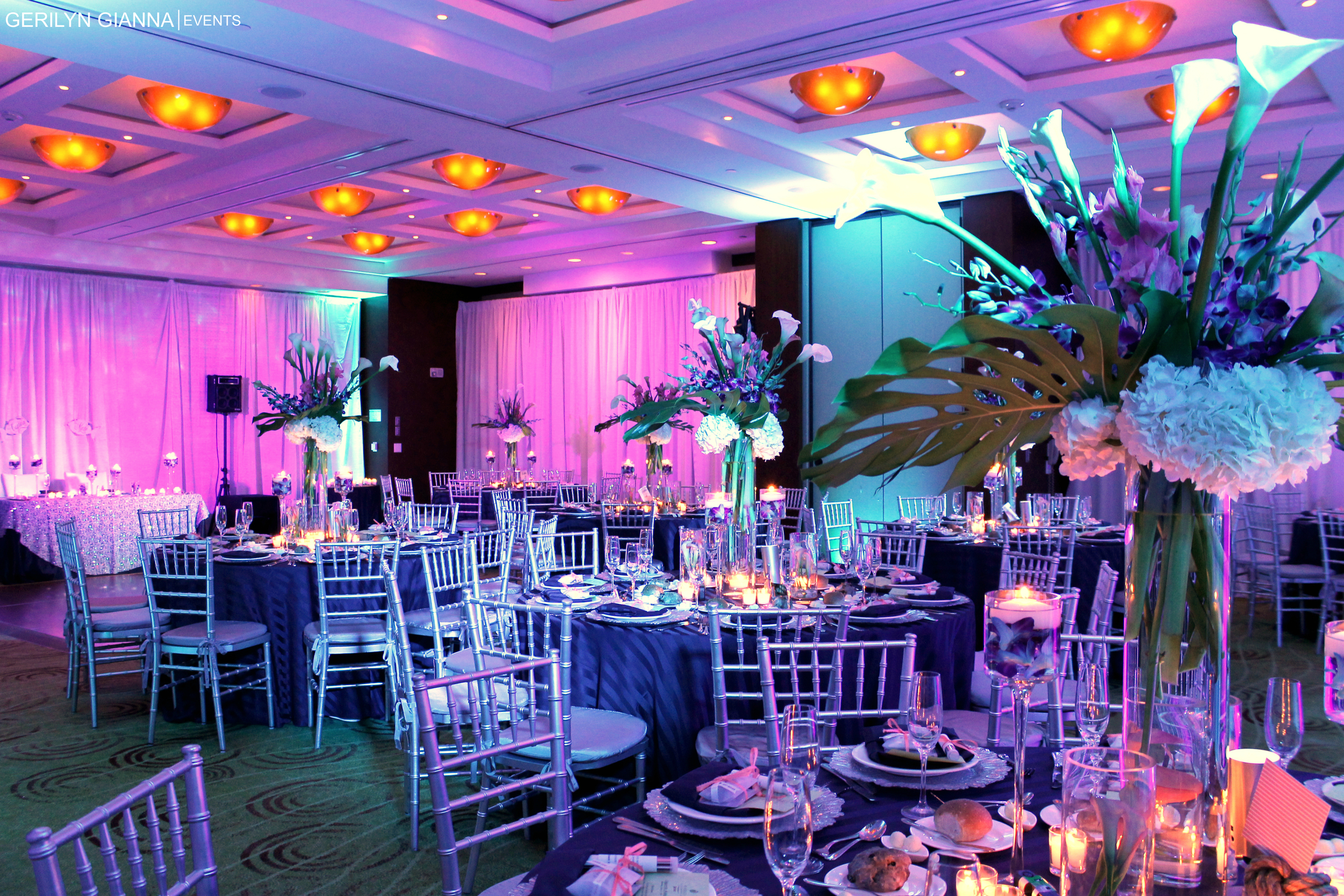 Marriott Singer Island Resort Wedding | Singer Island Florida Event Decor Lighting