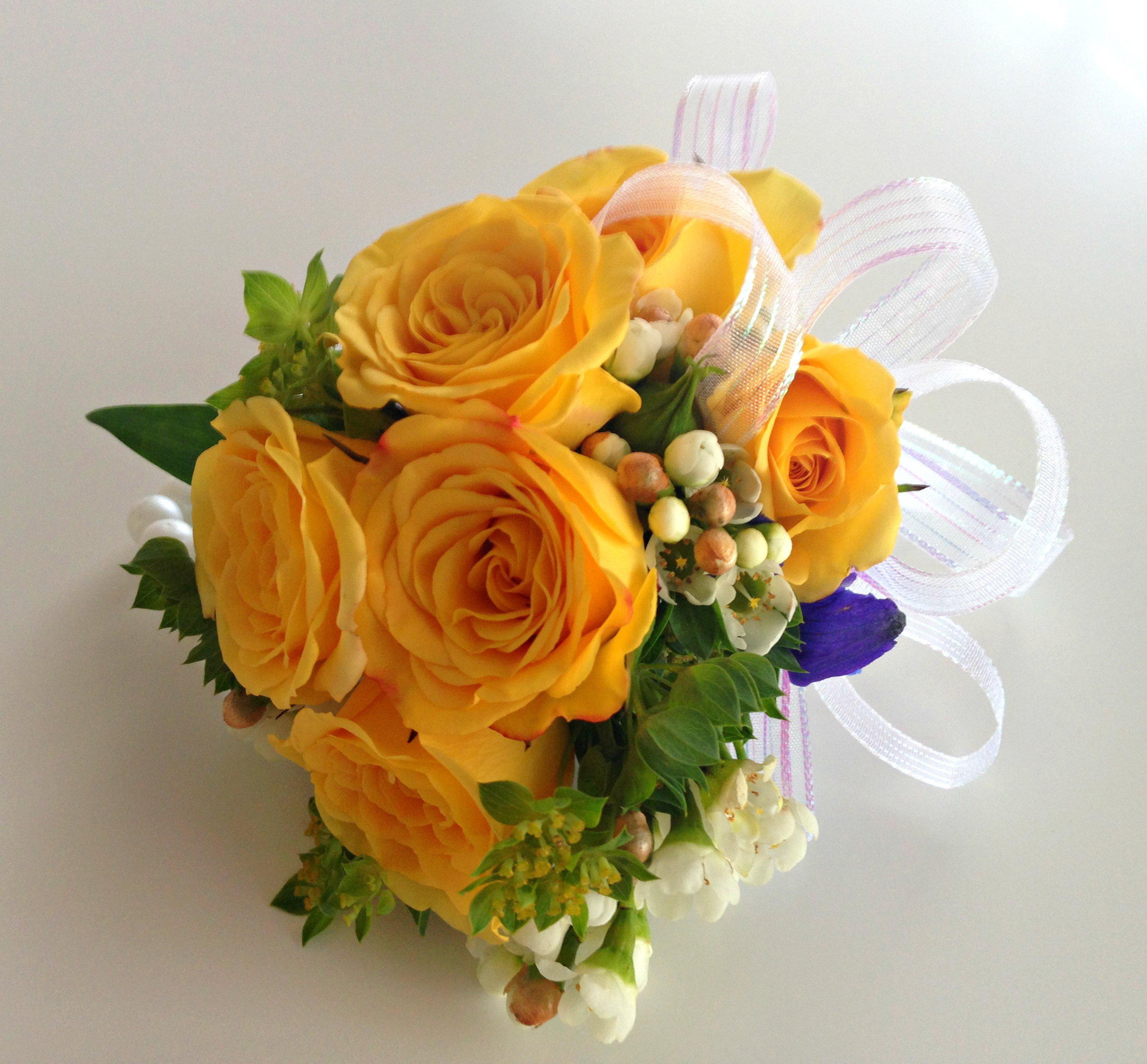 Yellow Garden Rose Corsage | Gerilyn Gianna Event and Floral Design | Palm Beach Weddings