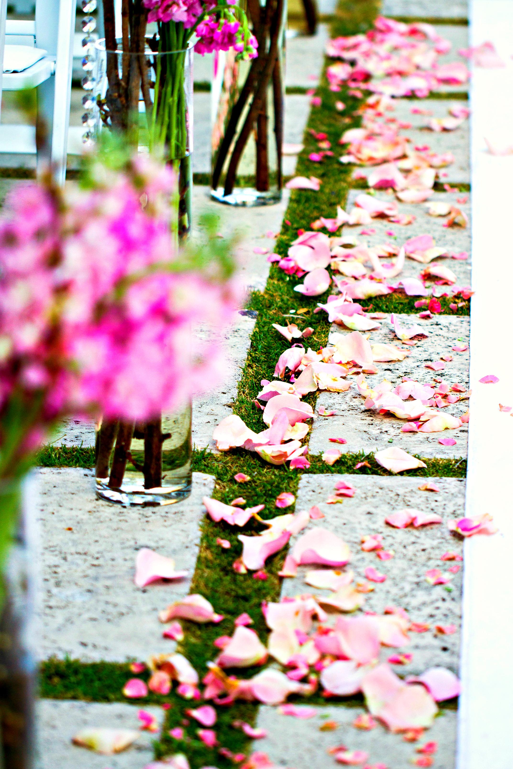 Aisle Decor | Marriott Singer Island Resort Wedding