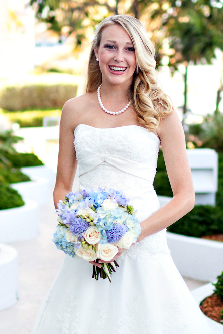Palm Beach Wedding Flowers | Blue Bridal Bouquet | Gerilyn Gianna Floral Design