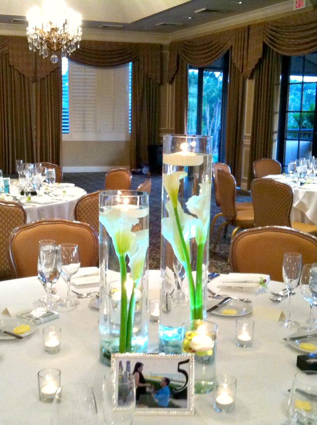 Submerged Floral Arrangements   Palm Beach Weddings   Gerilyn Gianna Event Design