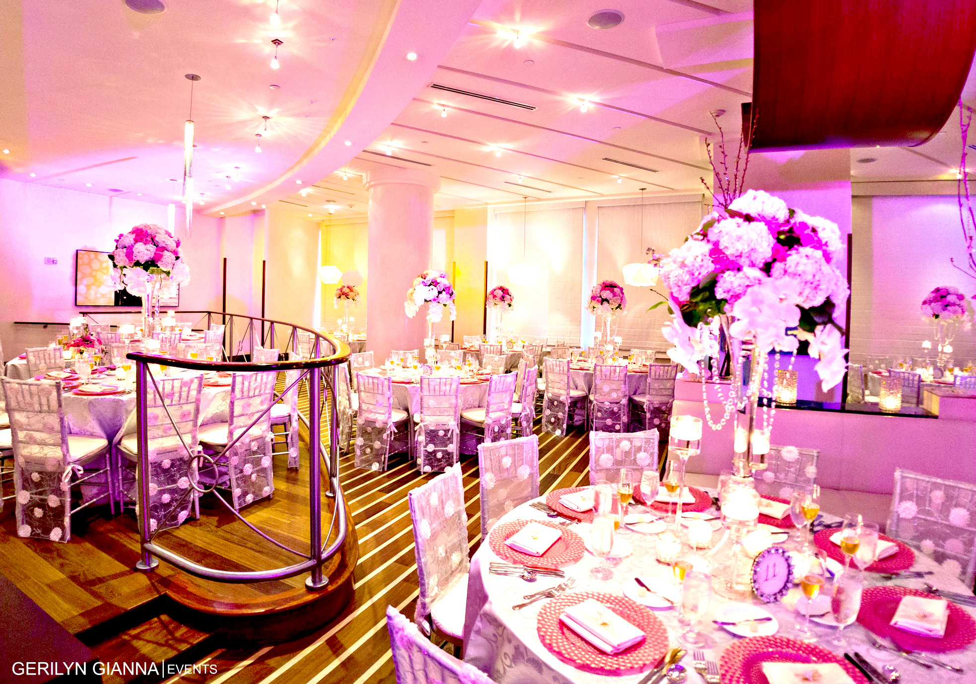 Tall Floral Centerpieces   Palm Beach Wedding and Event Flowers   Gerilyn Gianna Event and Wedding Design Services