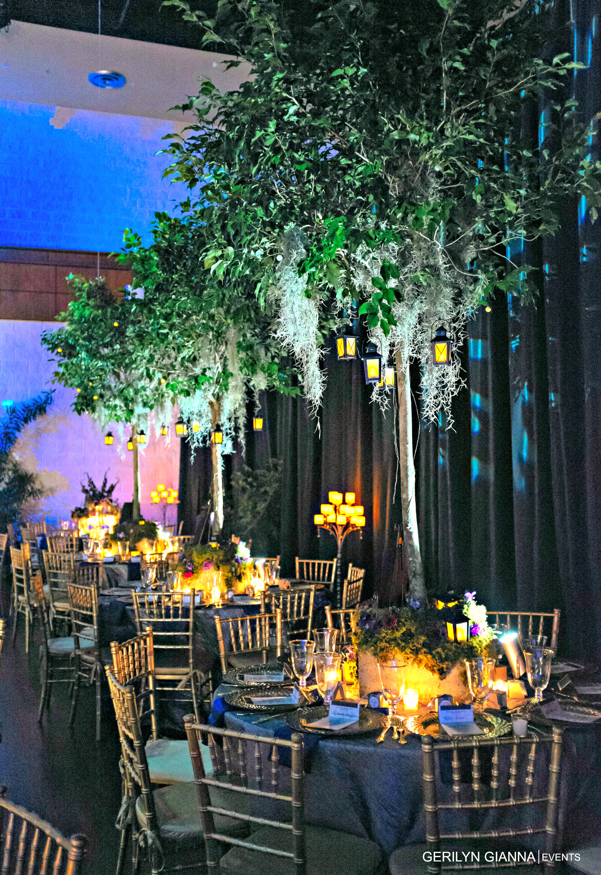 Floral Decor Using Trees and Branches | Palm Beach Wedding Florist | Gerilyn Gianna Event Design