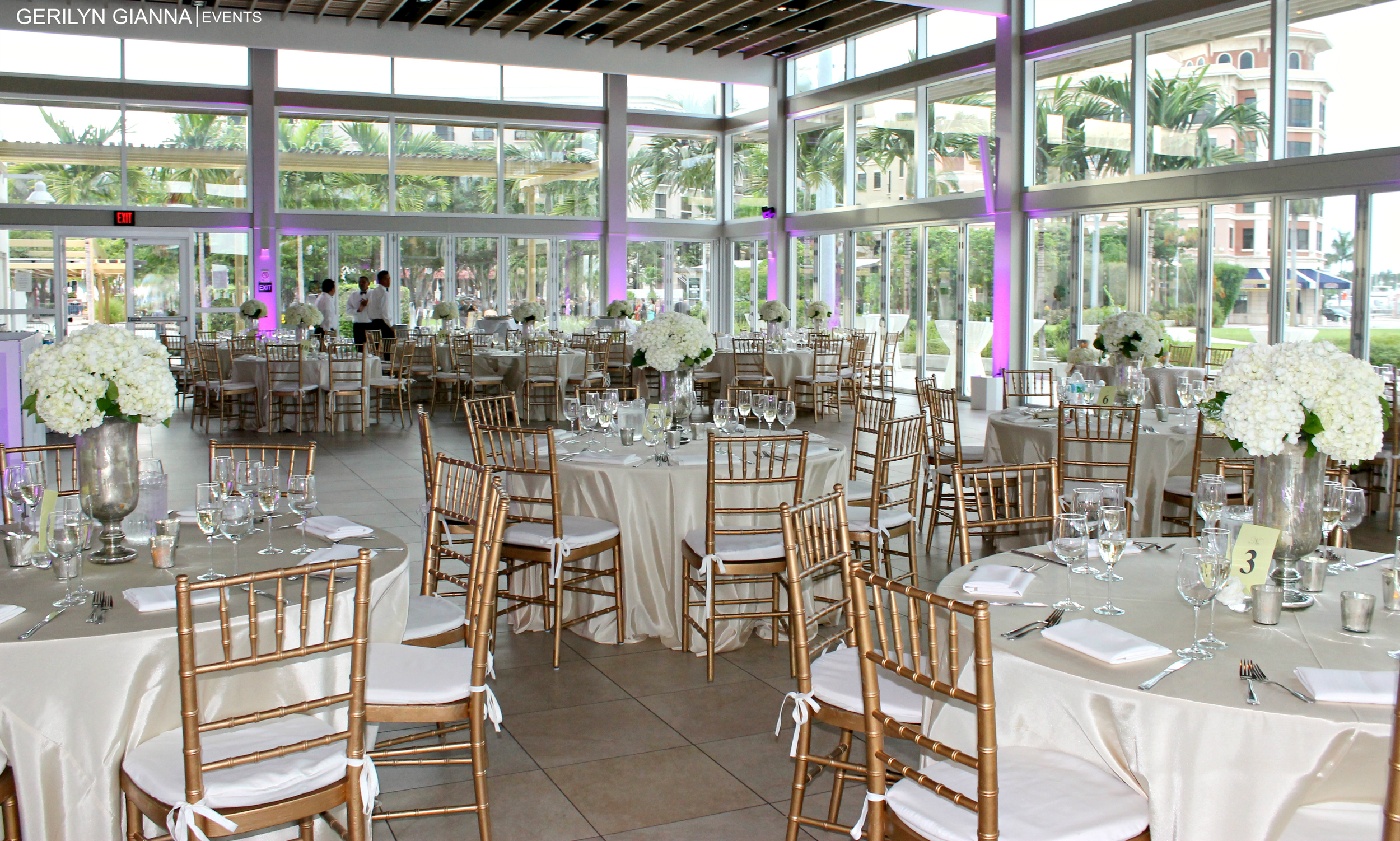 West Palm Beach Waterfront Pavilion Reception | Gerilyn Gianna Event and Floral Design |