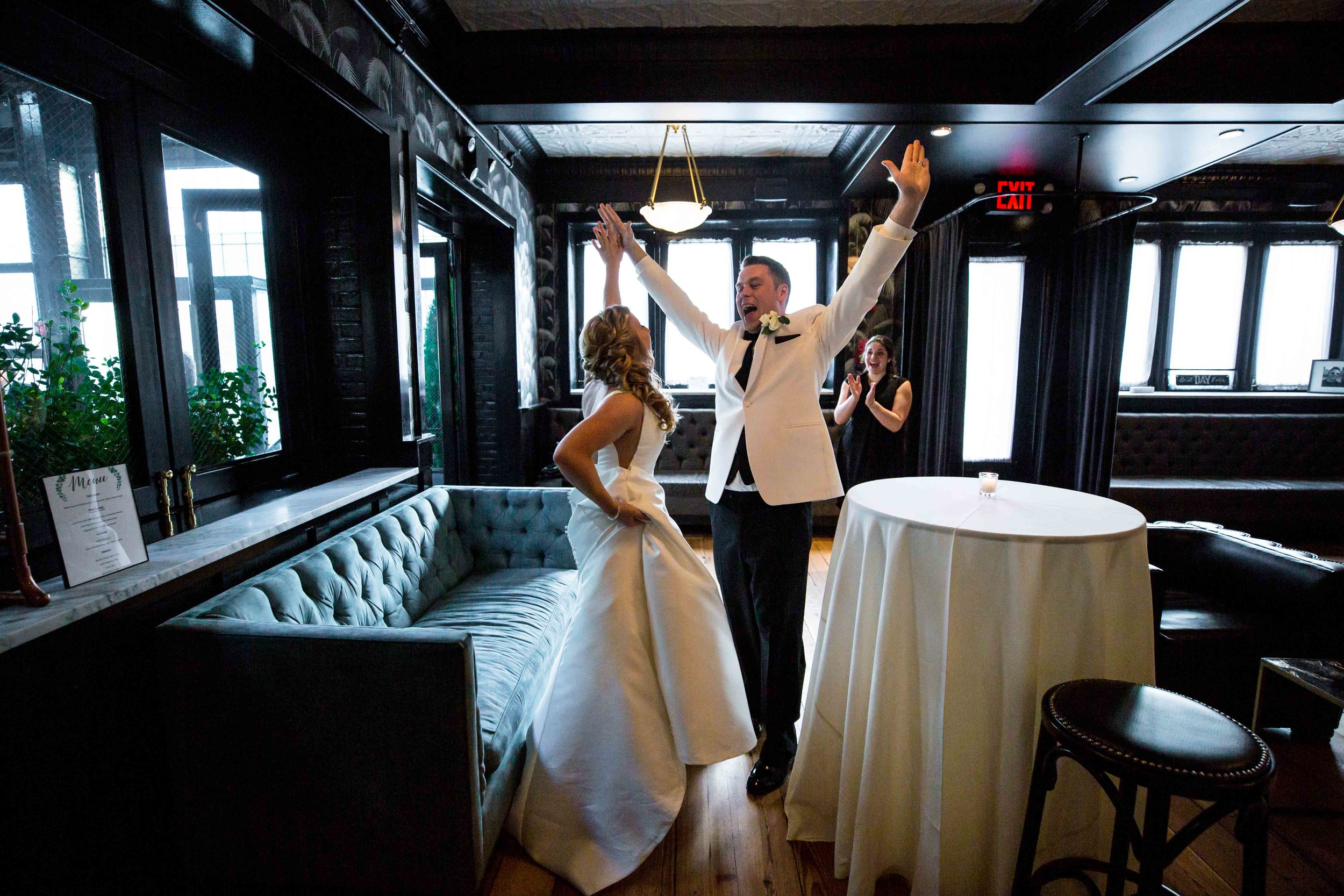 Lisa & Peter's Friday Night Wedding / Photo Credit David Perlman