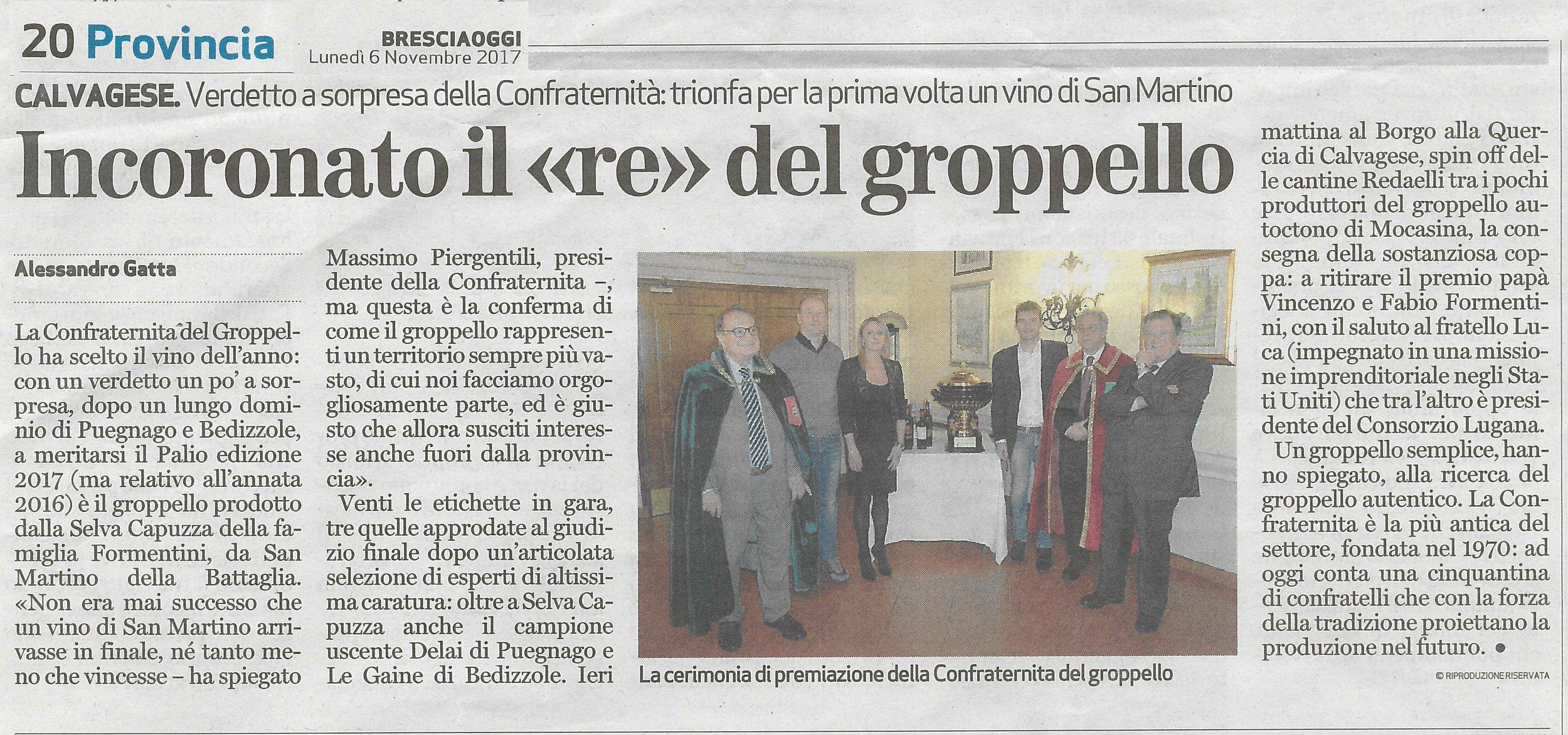 20171108_Bresciaoggi_pag. 20_Premio Groppello.jpg