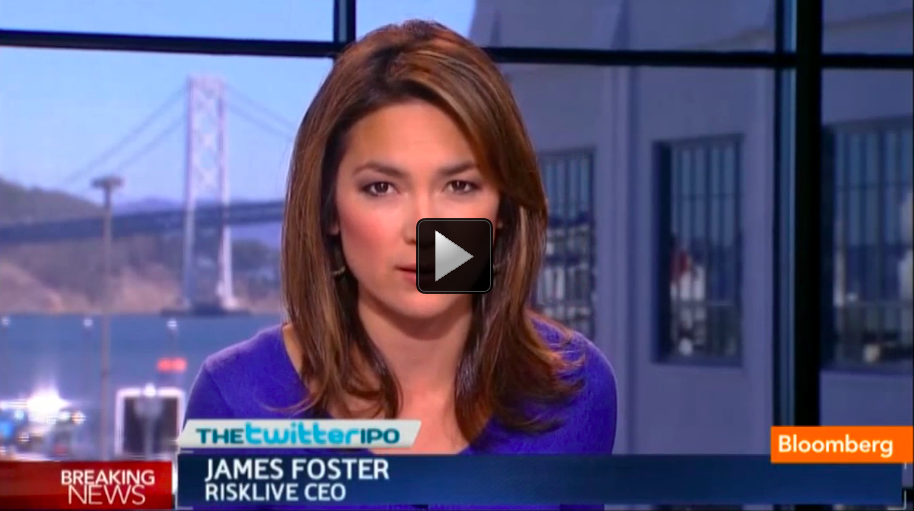 "Oct. 3 (Bloomberg) -- Riskive CEO James Foster discusses Twitter's security risks with Emily Chang on Bloomberg Television's ""Bloomberg West."" (Source: Bloomberg)"