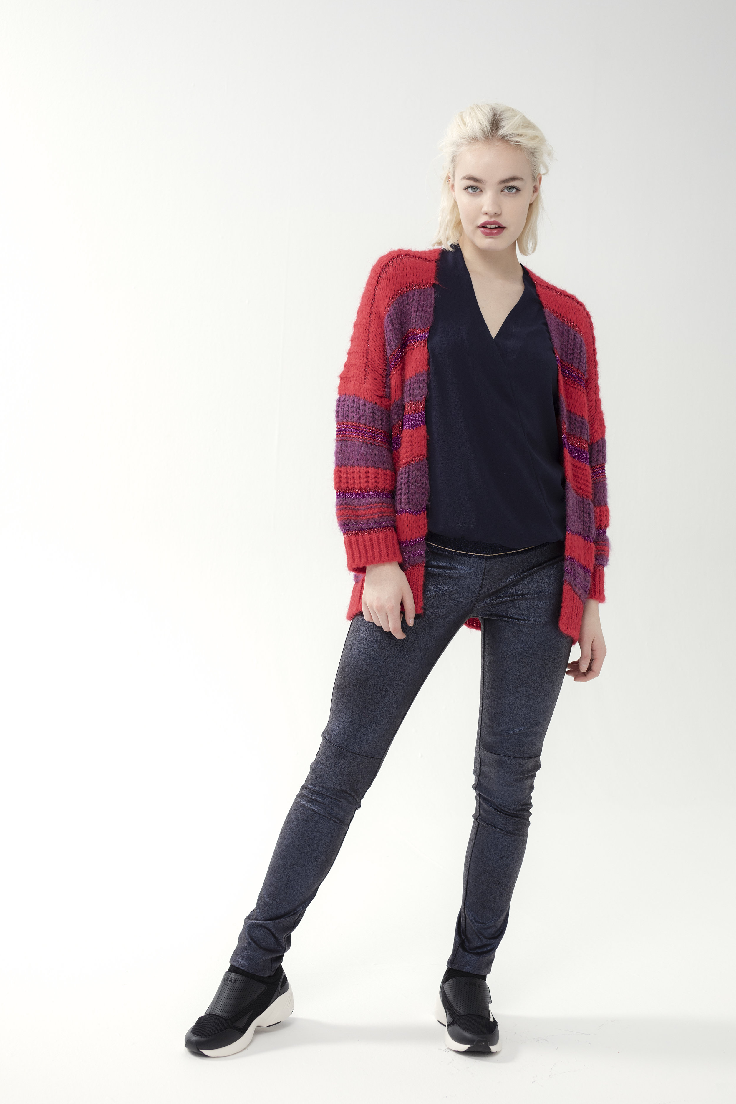 Shirt FONDANT - crepe | Cardigan CAROLA - atalanta | Trouser TROSSA - zamp