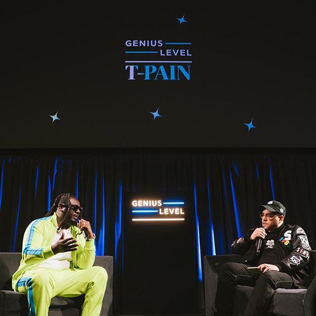 The other night with @tpain 🤩 . . Genius Level . . . . . @genius @tannersimpsondesign #geniuslevel #geniusmusic #brooklyn #hiphop #lightingdesigner #eventprofs 📸 @ryanmuirphoto
