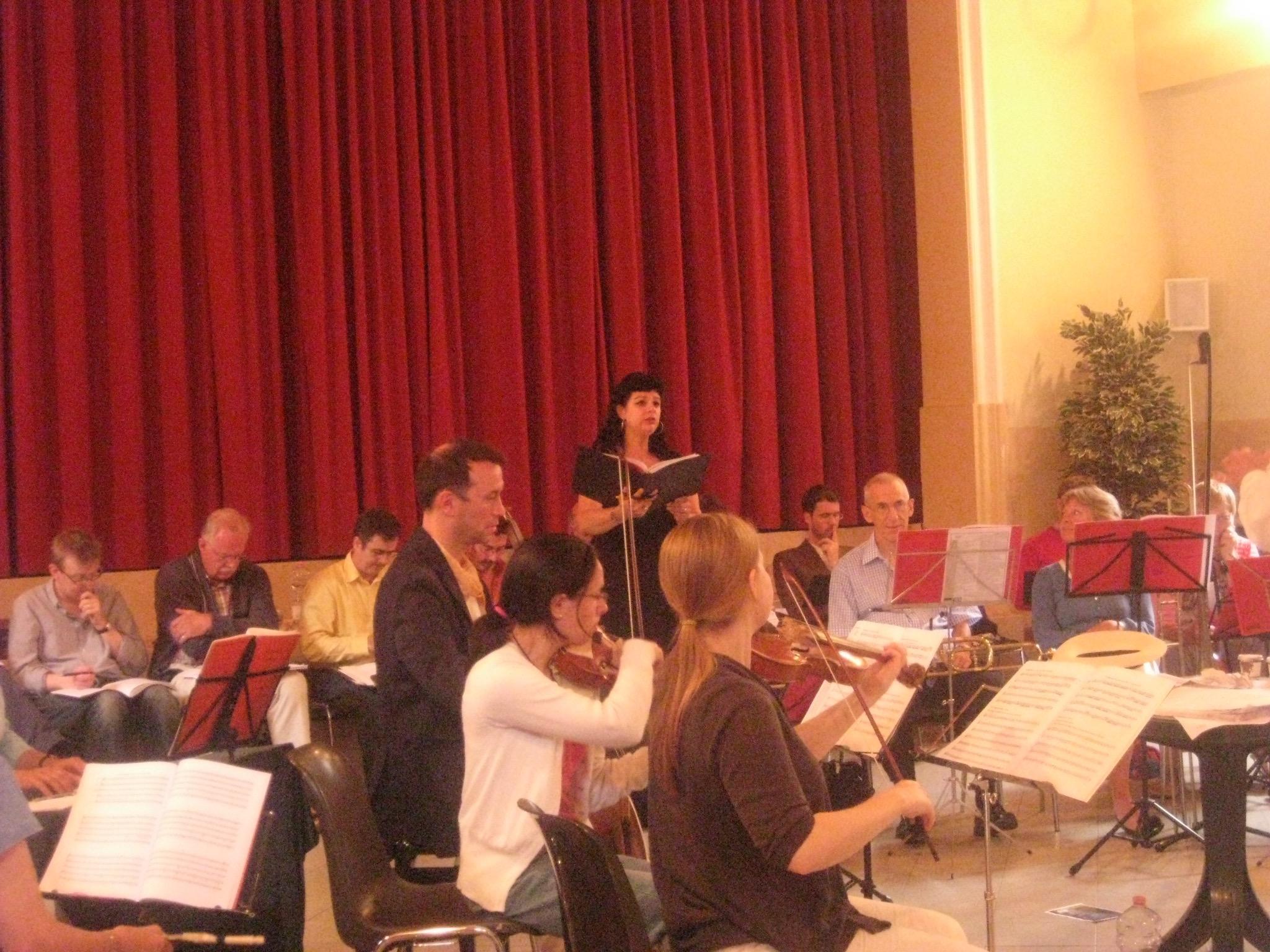 rehearsing Monteverdi Vespers in Venice