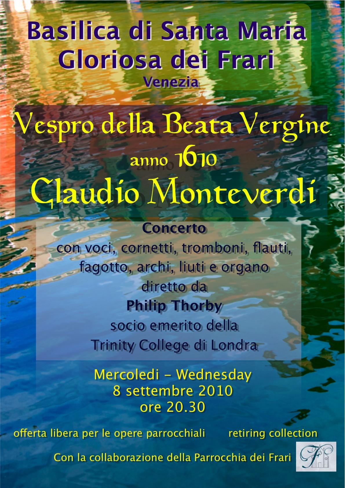 Monteverdi Vespers 1610 Poster