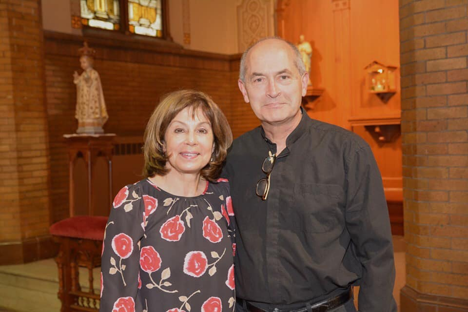 Maestra JoAnn Falletta, Buffalo Philharmonic Orchestra with Christopher Weber, Founder and Director of The Camerata di Sant'Antonio - CARNEVALDI REDUX, June 9 2019, Church of the Assumption, Buffalo NY ~ photo Katherine Kenwell Cich
