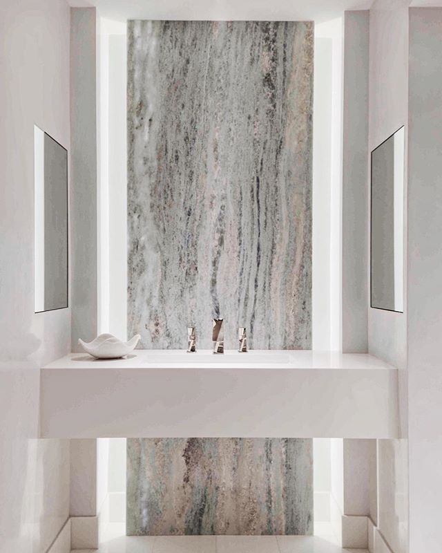 @elledecor and countless other sources (including us🙋🏼‍♀️) believe white and grey marble will continue to be a strong, popular material into 2019 for bathrooms and kitchens alike. We believe man made materials like marble and quartz are classic, timeless and can go from traditional to modern in terms of aesthetics. Let us design the home of your dreams with these durable + beautiful man-made materials!  #JulieCDoesntMessAround #DistrictDesignNashville - Photo from one of our beautiful projects in Naples, FL! - - #interiordesign #interiordesigner #nashville #nashvilletn #nashvilleinteriors #nashvilleinteriordesign #nashvilleinteriordesigner #interiorinspiration #interiorinspo