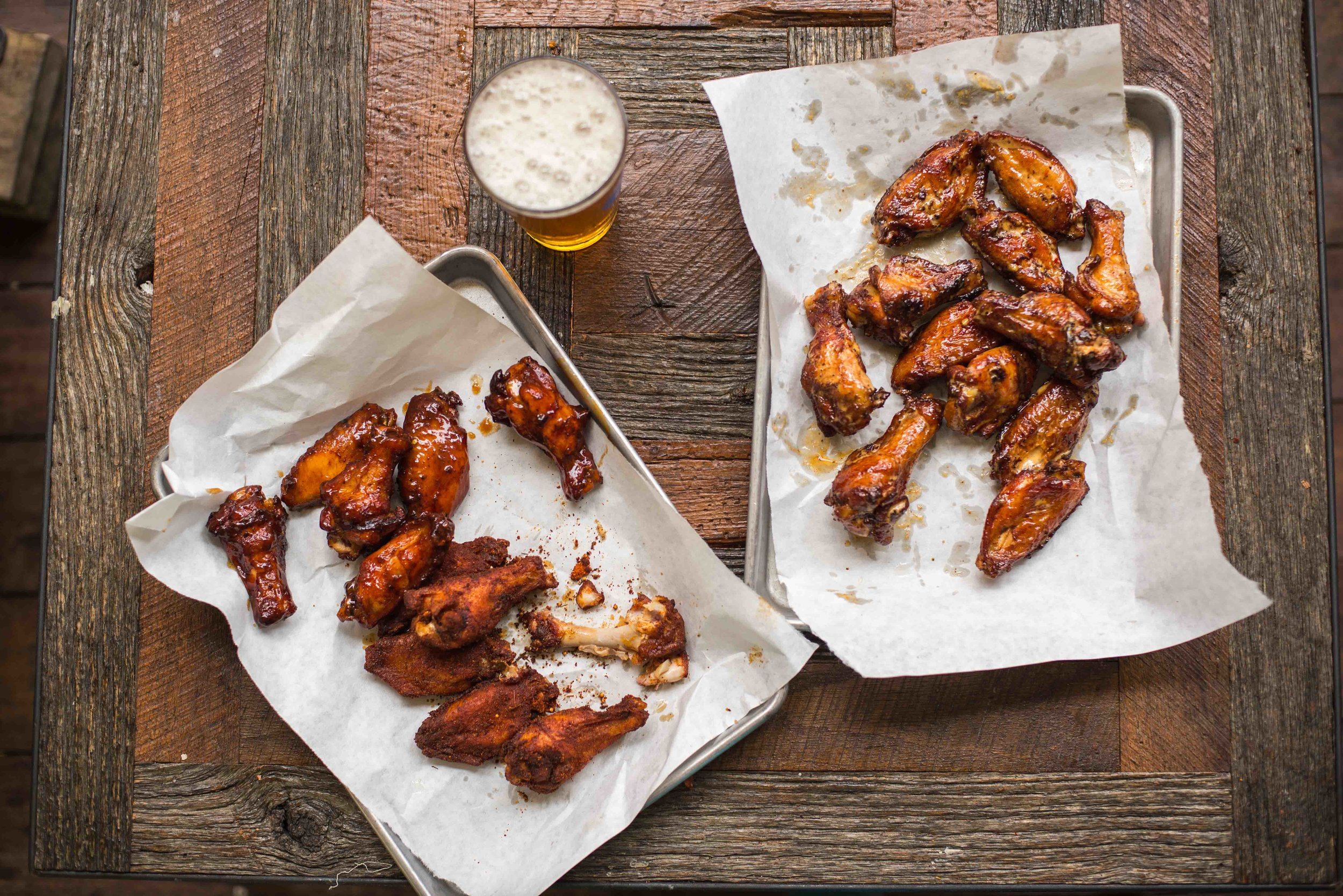 Memphis Dry Rub, Sweet Dixie, and Alabama White wings