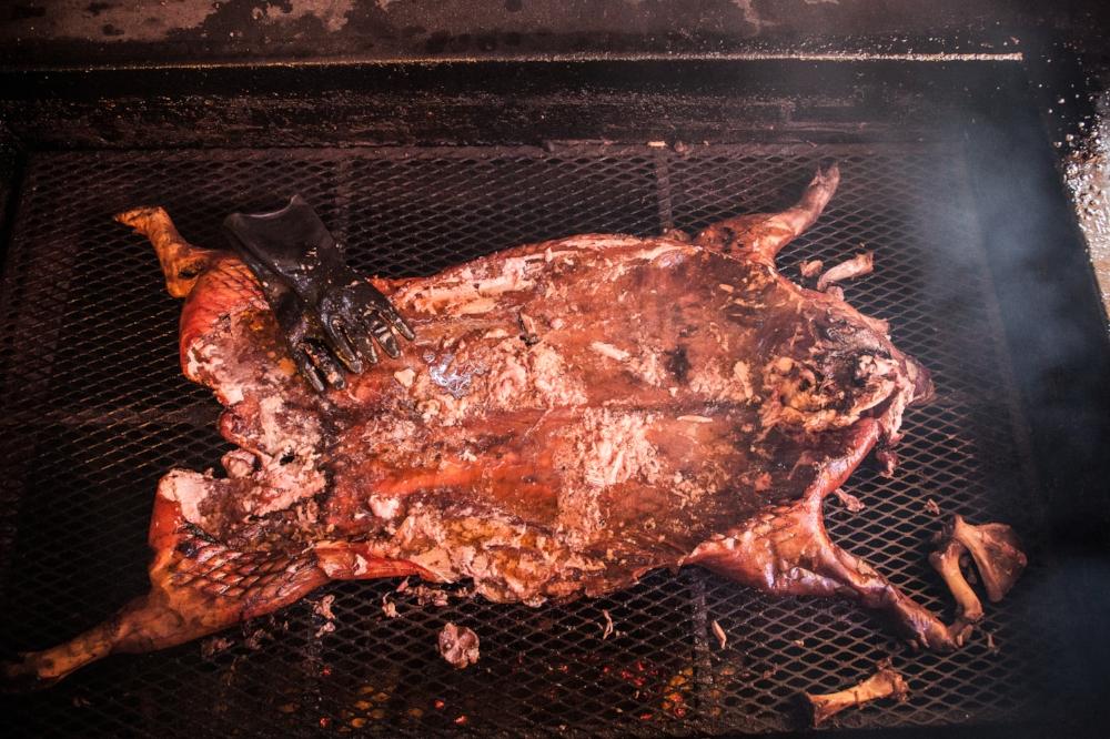 Whole Hog on Smoker
