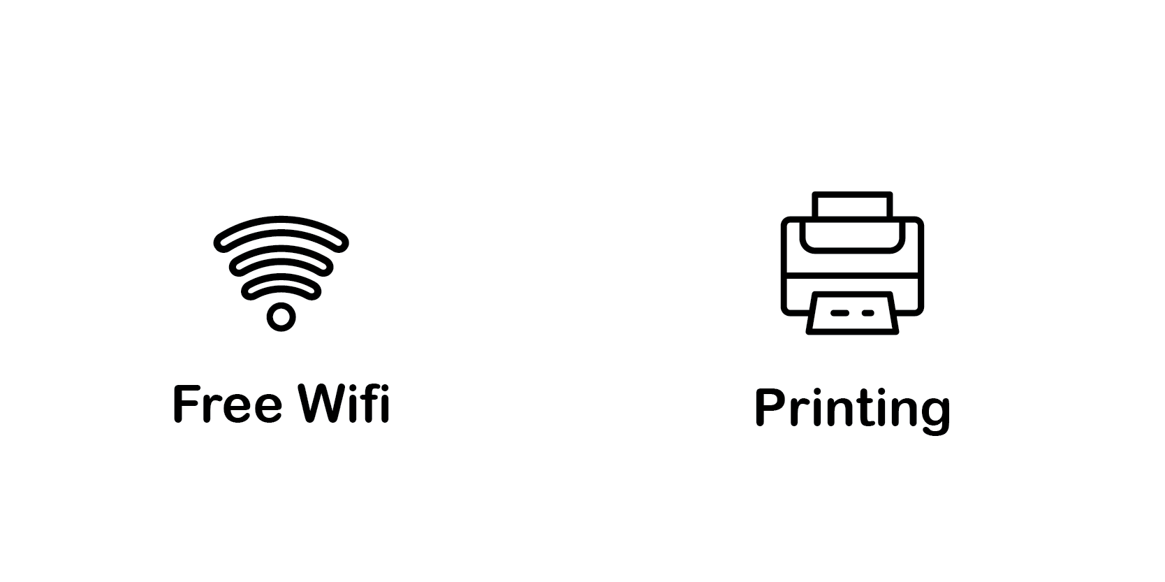 free wifi and printing services