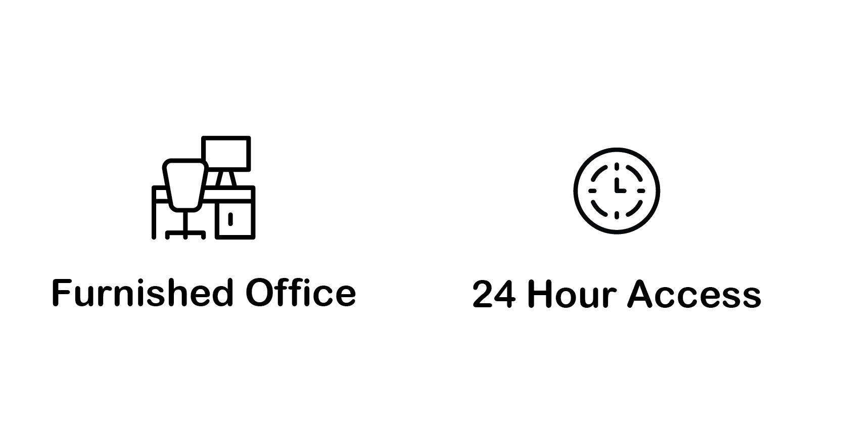 furnished offices and 24-hour access