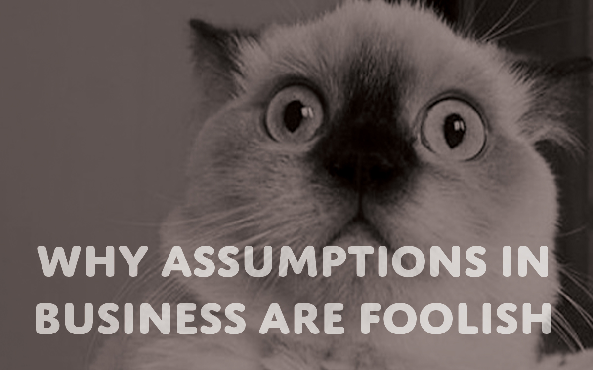 Why Assumptions in Business are Foolish