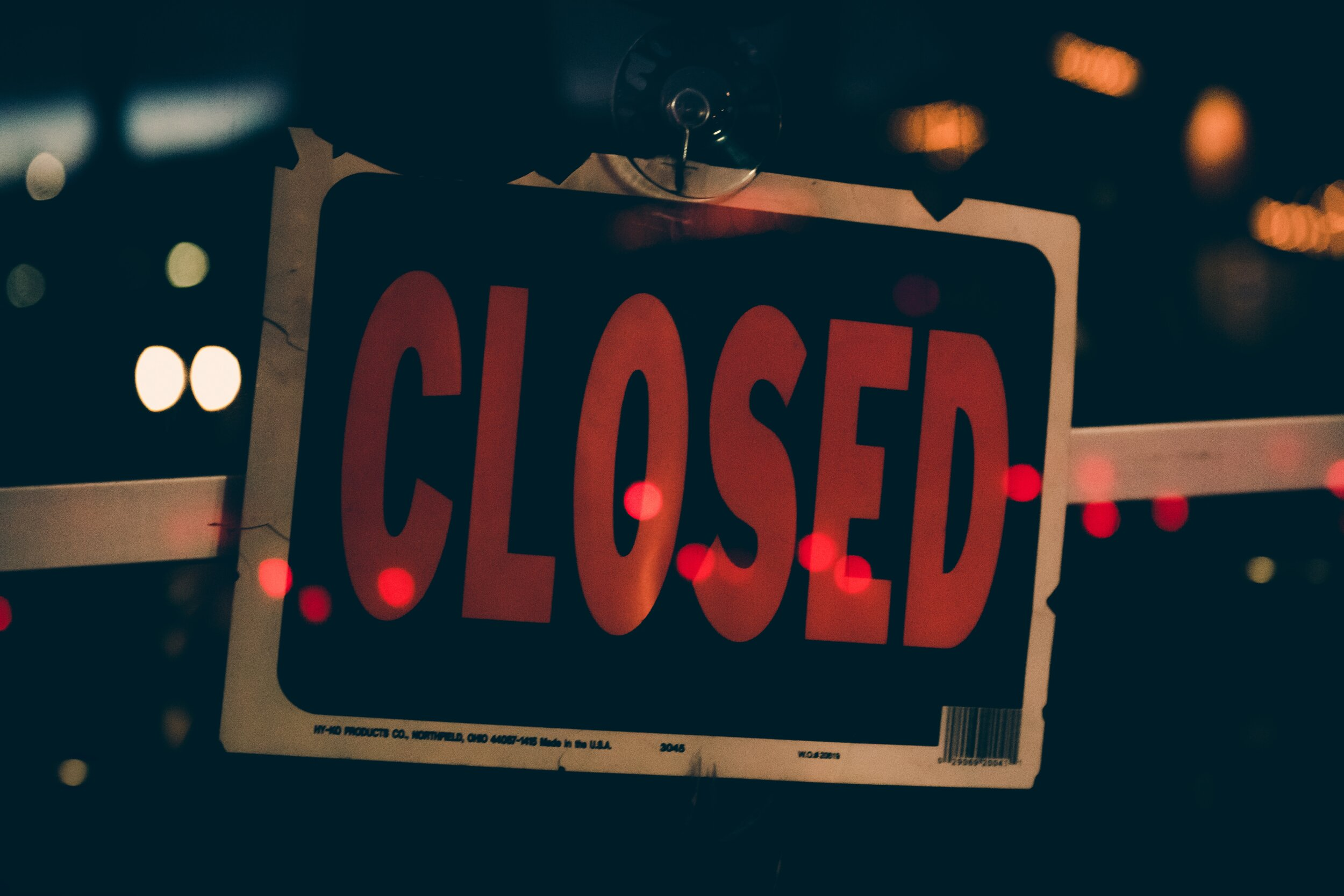Small Businesses Shutting Down - Closed business sign