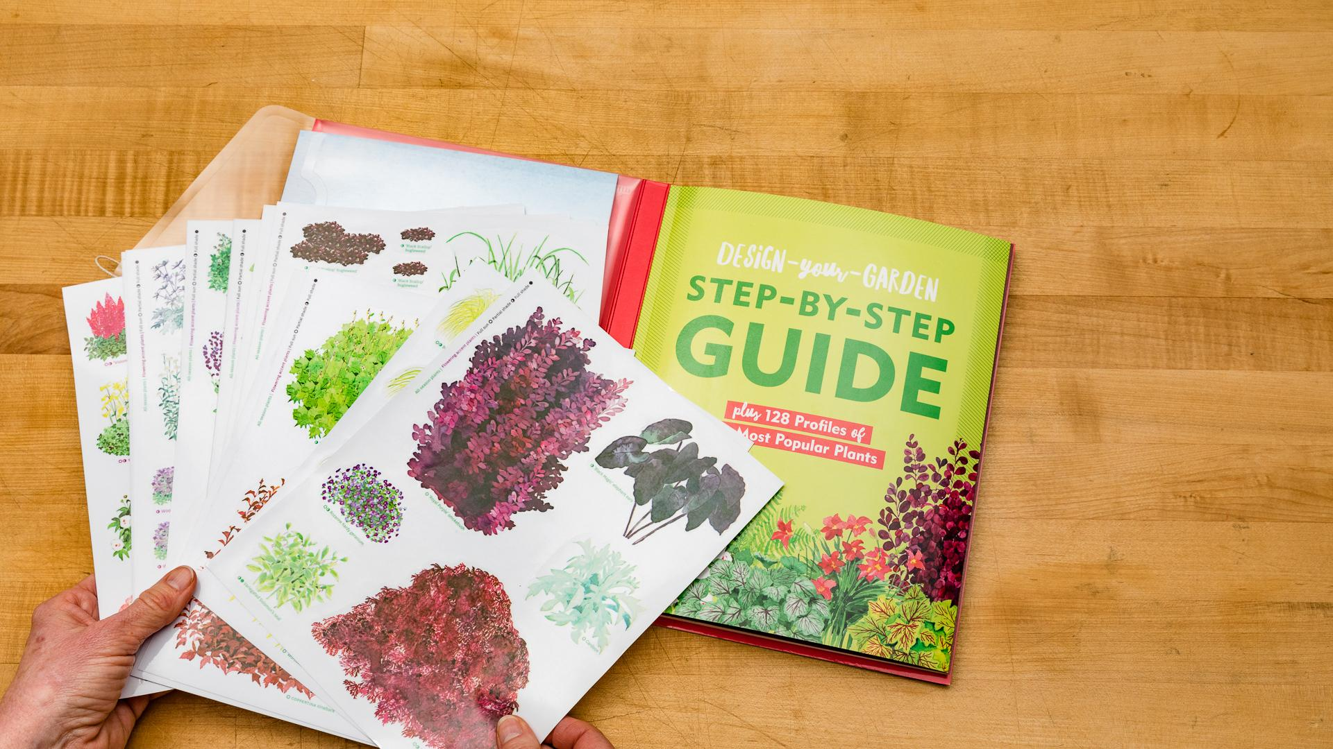 Inside are 150 reusable cling stickers of popular plants that grow well in most temperate gardens.