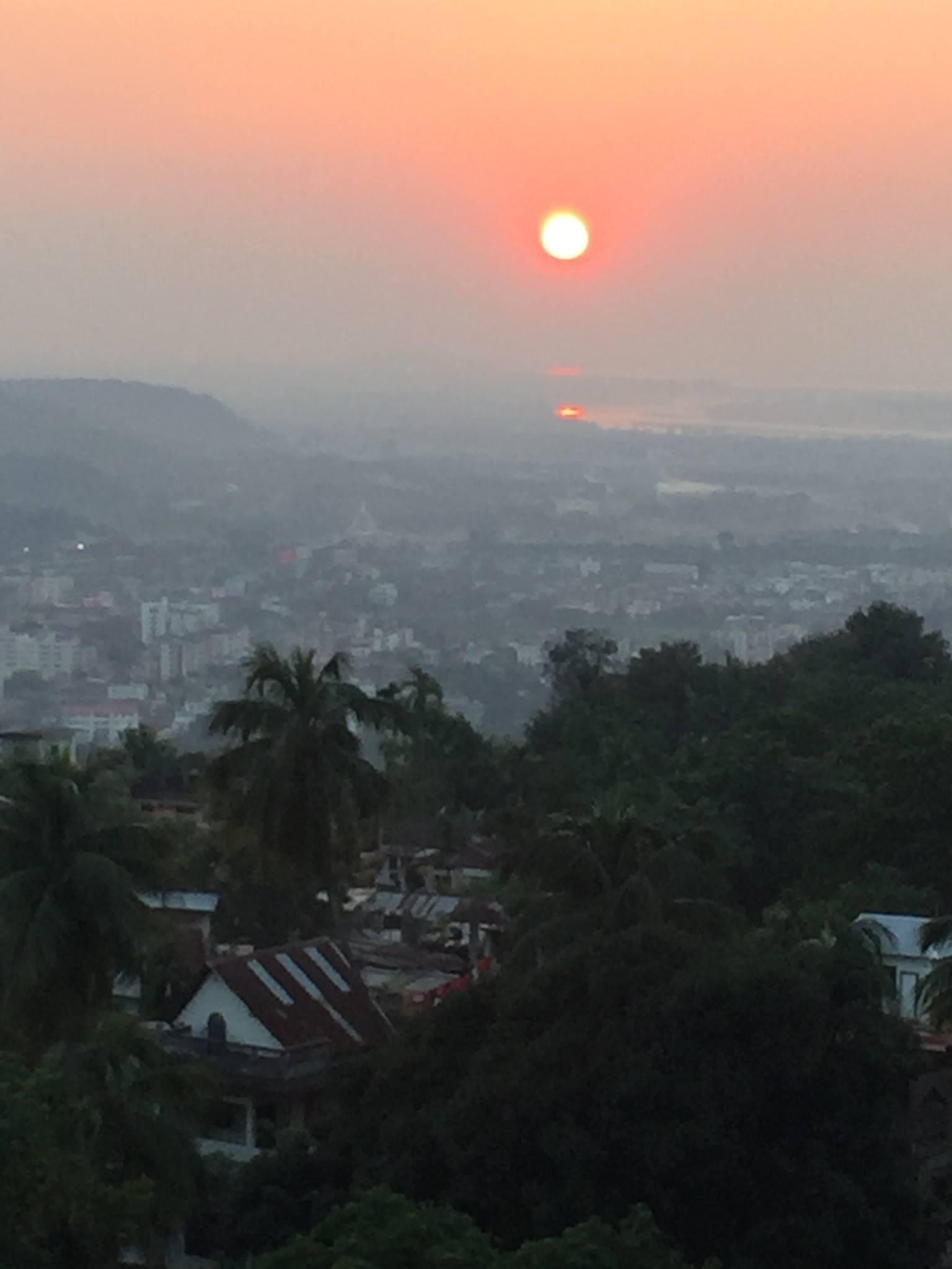 Sunset over the Brahmaputra, Kamakhya