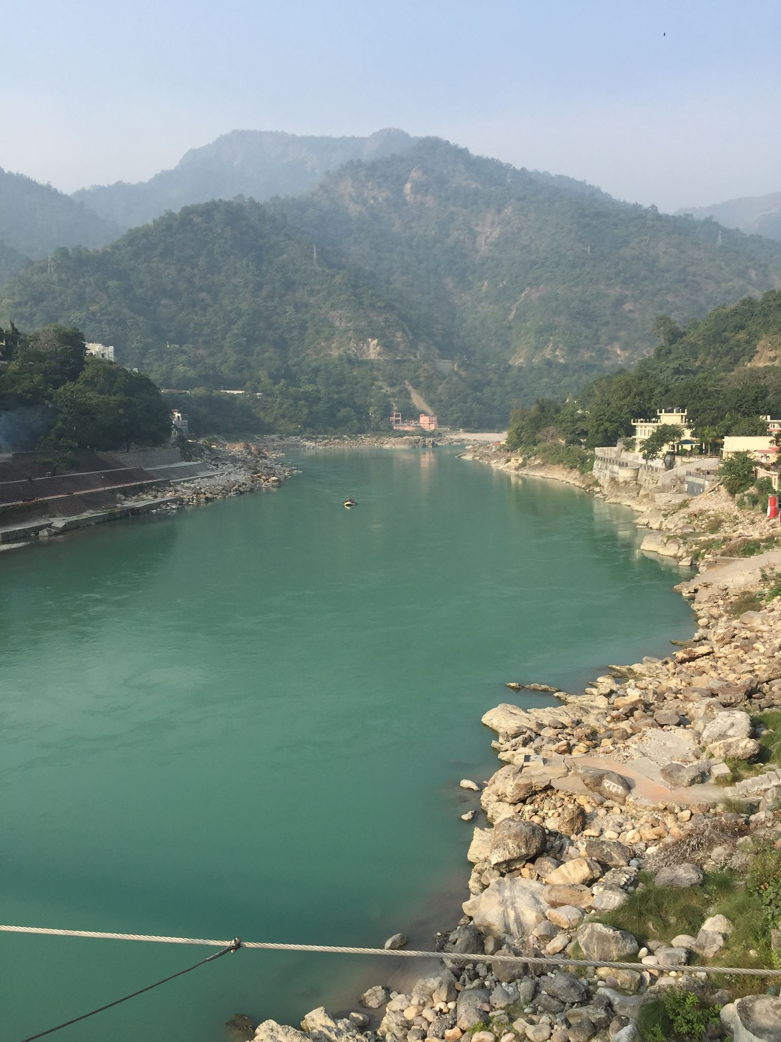 The Ganges as it leaves the mountains, Rishikesh