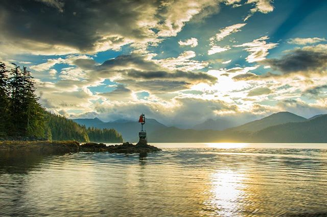 Just a gorgeous day on the water in #sitka #ak . . . . . #flyfishing #alaska #chinook #salmon #king #waterfall #remote #fishon #fish #neverstopexploring #getoutstayout #photography #lowlight #sunset #boating #charter #bears
