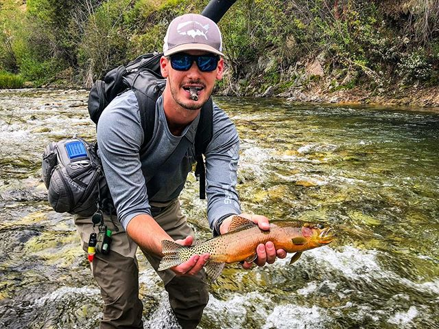 Fly fishing in the nowhere's... . . . . . #flyfishing #id #idaho #creek #river #trout #cutthroat #flyfishing #getoutstayout #neverstopexploring #moonshinerods #water #fish #repyourwater #orvis @moonshinerods @sageflyfish